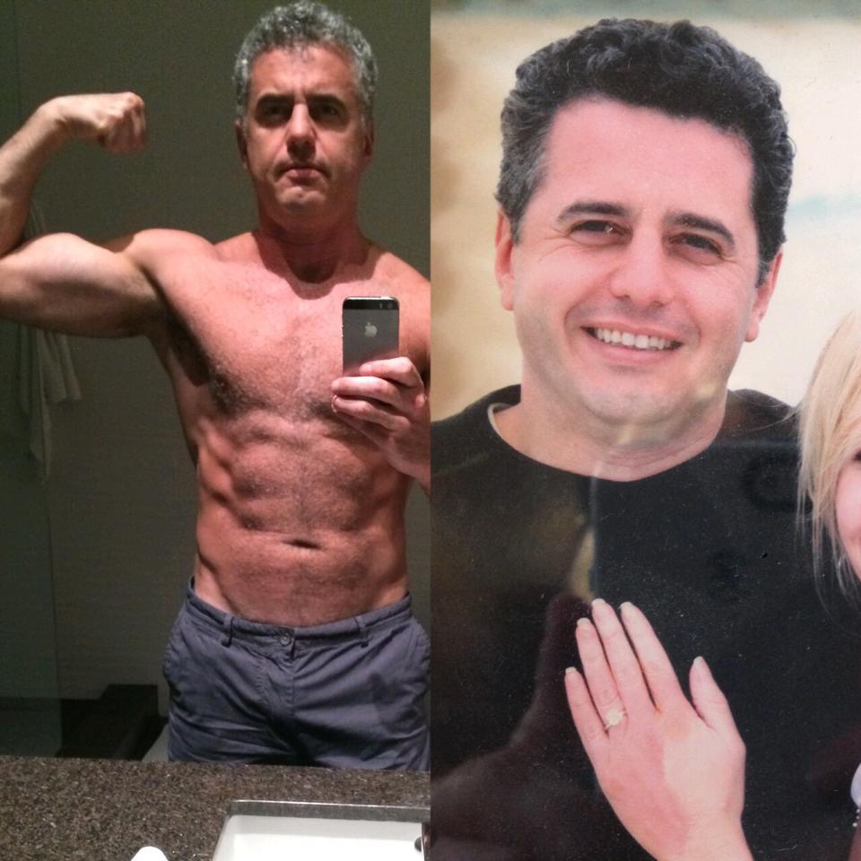 dr. Davis nakon prelaska na vegansku prehranu i prije (desno), dok je jeo meso