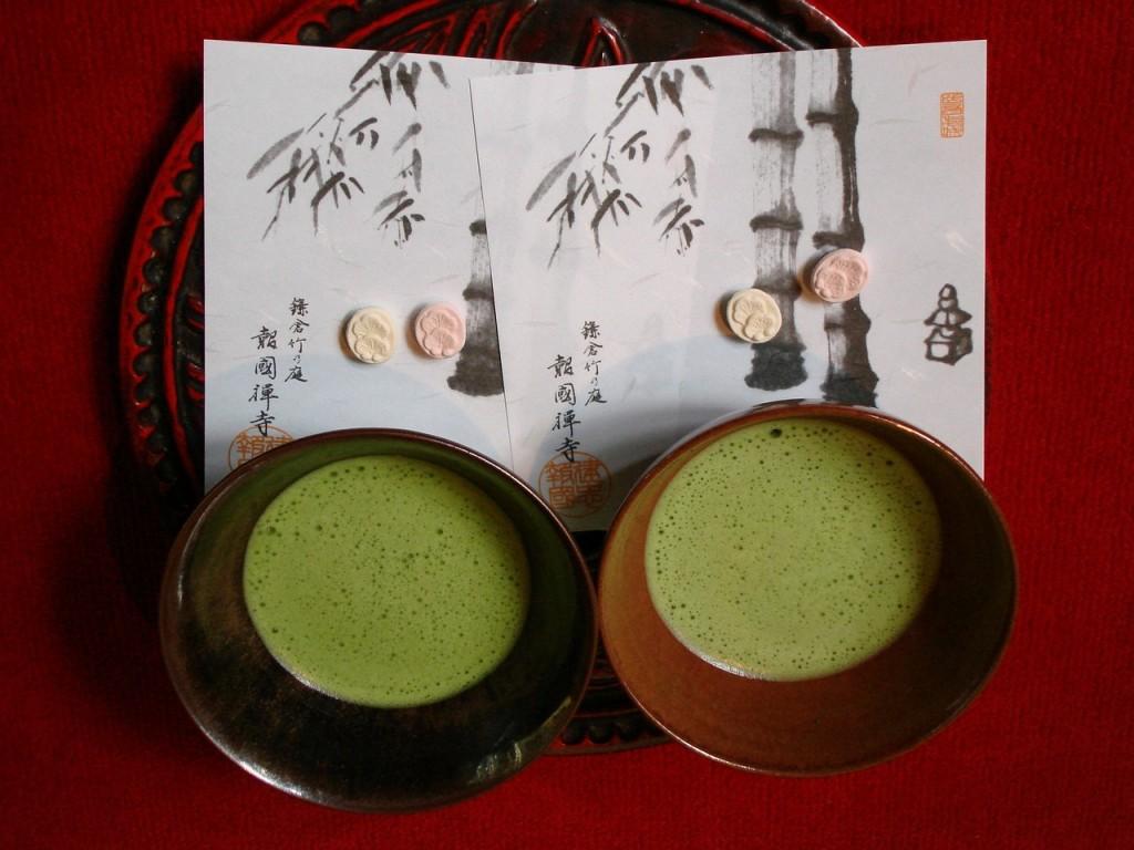 U japanskoj ceremoniji čaja upotrebljava se vrsta zelenog čaja zvana macha